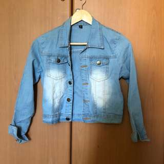 Denim Crop Jacket