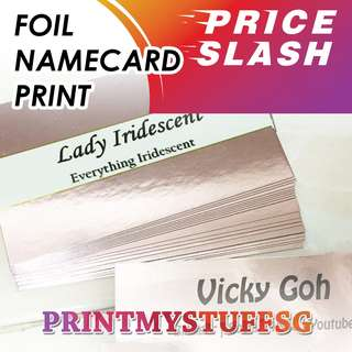 Liquid Foil Name Card Printing