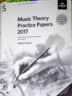 Grade 5 Music Theory Practice Papers 2017 by ABRSM