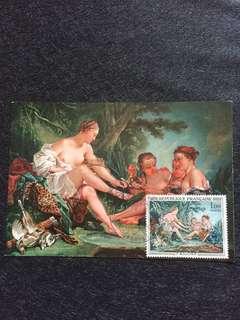 France 1970 Francois Boucher Maxicard FDC Stamp