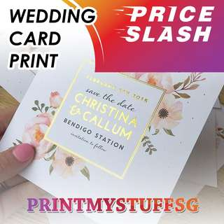 Wedding Card Print