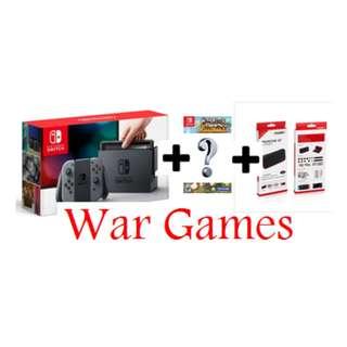 Nintendo Switch Standard Bundle (Grey) (1 Game n Protective Kit)