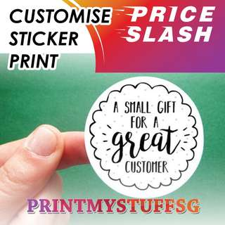 Customise Personalise Sticker Label Printing