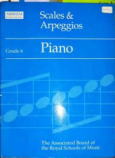 Grade 6 Piano Scales and Arpeggios, by ABRSM