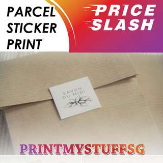 Parcel Sticker Label Printing