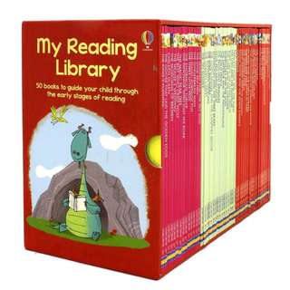 🚚 Usborne Book My Reading Library 2 Collection Boxset ( 50 Books and Brand New )
