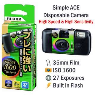 Fujifilm Simple Ace Disposable High Speed Film Camera ISO 1600 [27 Exp]