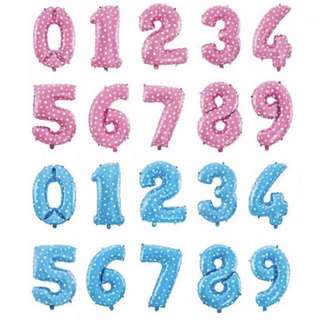 272- 16 Inch Number Balloons