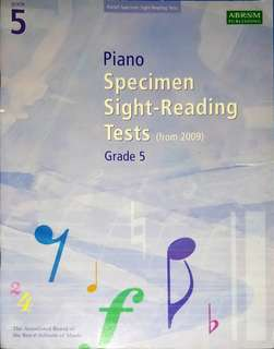 Grade 5 Piano Sight Reading Tests by ABRSM