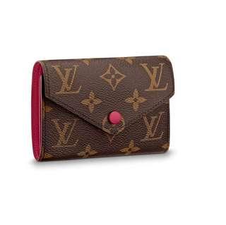 Authentic Louis Vuitton Victorine Wallet Monogram Fuchsia