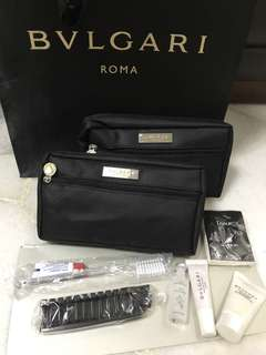 Bvlgari parfums airlines pouch