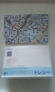 < 遊日必備 > 東京近郊鐵道 地圖 鐵道 路線圖 眼鏡布 便攜裝 - 包郵