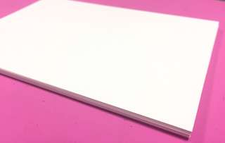 🚚 A6-sized Cardstock Paper (300 GSM)