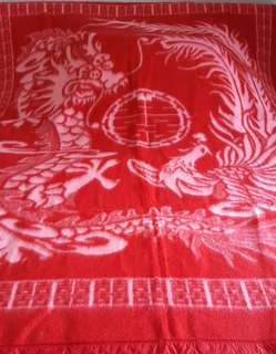 Chinese traditional double happiness wedding blanket
