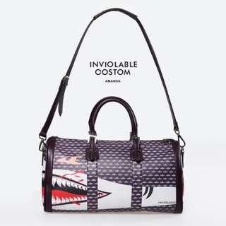 Amanda Inviolable Leather Travel Bag 10x18x8