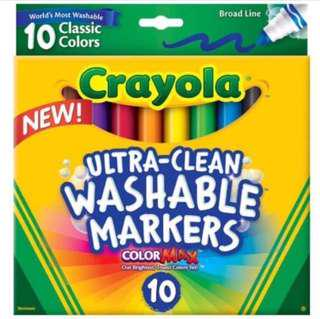 Brand New Crayola Ultraclean Washable Markers, 10ct
