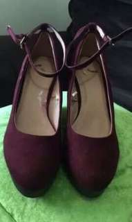 Brand New Report Maroon Wedge