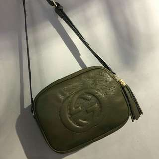Gucci Soho Disco Bag Olive Green