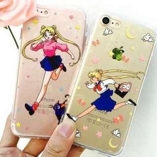 手機殼IPhone6/7/8/plus(沒有X) : 美少女戰士全包邊透明軟殼