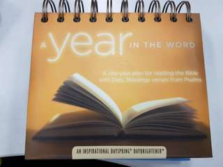 Calender with Daily Blessing verses from Psalms