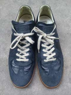 Maison Martin Margiela REPLICA Trainers Shoes 46 Leather Italy AUTHENTIC Navy Blue