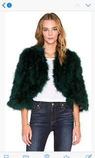 Feather jacket - authentic ostrich feathers