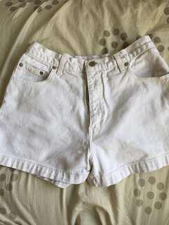 Guess white high waist shorts