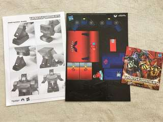 Transformers Cardboard Figure and CD