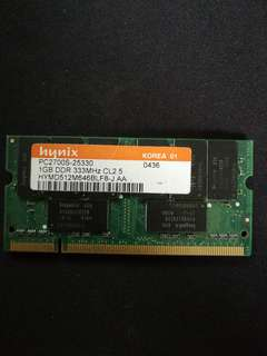 Hynix DDR-333 1GB Laptop Ram