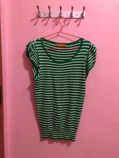 Green Stripes Sweatshirt