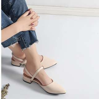 Korean style strap high heels