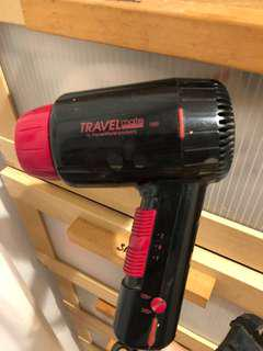 "🚚 Travel hairdryer 120/240V (dual setting options), 1200W ""travelmate"""