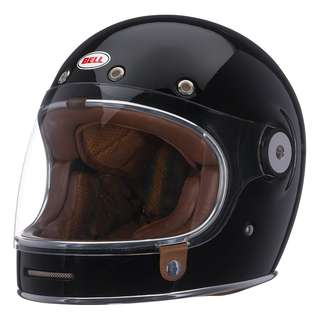 Bell Bullitt SIZE MEDIUM ONLY Gloss Black Full Face Motorcycle Motorbike Cafe Racer Classic Retro Helmet Solid Gloss Black Spaceman Astronaut Helmet