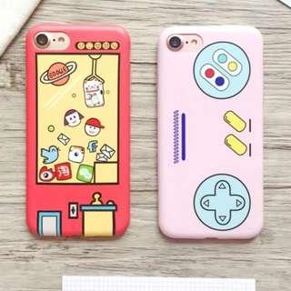 手機殼IPhone6/7/8/plus(沒有X) : 韓國遊戲機夾娃娃全包邊軟殼