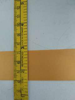 gold fabric ribbon- by meter