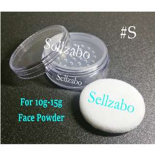 #S Case : Casings : Containers : Box : Loose : Powder : Face : Makeup : Cosmetics : Portable : Travel Use : Travelling : Refill : Refillable : Transfer : Clear : Transparent : See Through : Compact : Sponge Puff : Small Size : Tools : Sellzabo