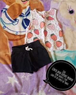 Sold as set shorts/top