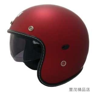🚚 ❌ 另贈長鏡片❌GP-5 338 隱藏式墨片 車縫質感邊條 時尚復古 半罩 騎士帽 復古帽 安全帽