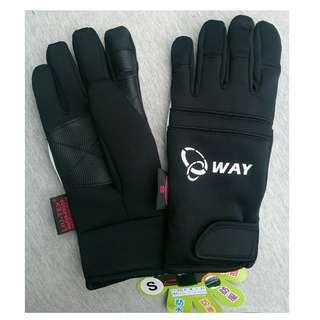🚚 5℃ WAY 防水 防寒 防風 潛水布 手套 JYG-006 黑 尺寸:XS、S、M、L、XL
