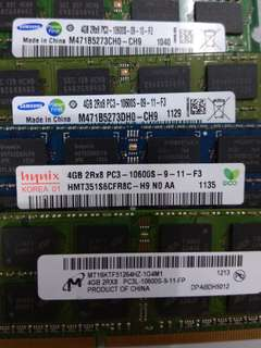 Laptop Ram 4GB ddr3 x4