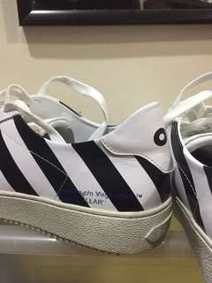 "Off-White Diagonal Sneakers ""BLUE COLLAR"""