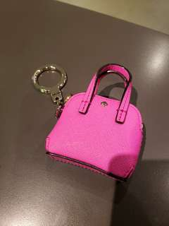 Kate Spade snapdragon pink mini maise purse keychain