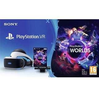 Playstation VR + VR WORLDS + Playstation Camera