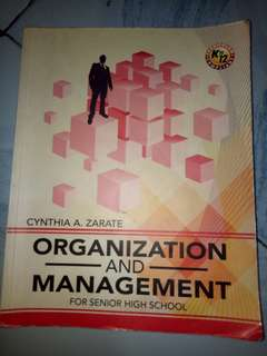 ORGANIZATION AND MANAGEMENT SHS TEXTBOOK