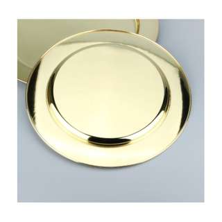 Gold Plate with Gold Spoon