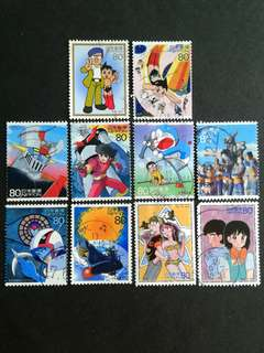 Japanese Cartoon stamps