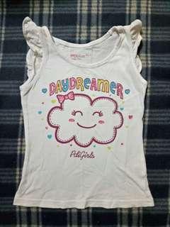 PDI Kids Happy Cloud Sleeveless White Shirt Size 3Y