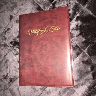 Large Cattleya Note Binder With Refill