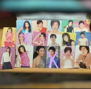 36張 雜錦歌手 yes card 閃卡&白卡&貼紙卡