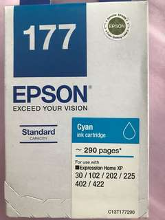 Authentic brand new Epson ink cartridge 177 cyan